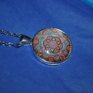 Jewelry - Colorful Mandala Dome Necklace
